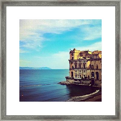 Palazzo Donn'anna - Napoli Italia Framed Print by Gianluca Sommella