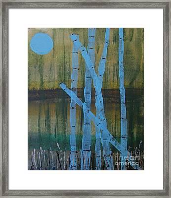 Pale Blue Moon Framed Print