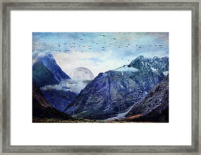 Pale Moon Rising Framed Print