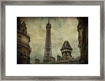 Pale Paris Framed Print by Georgia Fowler
