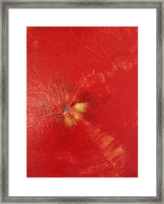 Palette Style Zoom  Red Poppe  Framed Print by Pretchill Smith