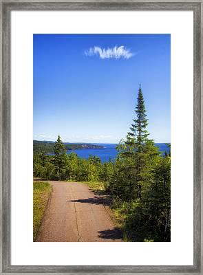 Palisade Head - Tettegouche State Park Framed Print by Bill Tiepelman