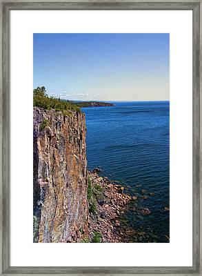 Palisade Head Cliffs Framed Print by Bill Tiepelman