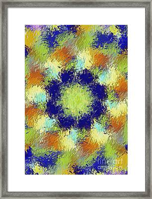 Pallet Of Colors Framed Print by Deborah Benoit