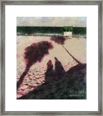 Palm Shadows Framed Print