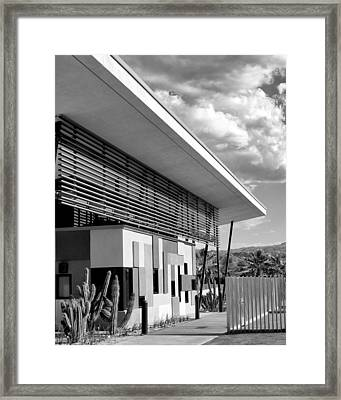 Palm Springs Animal Shelter Bw Palm Springs Framed Print by William Dey