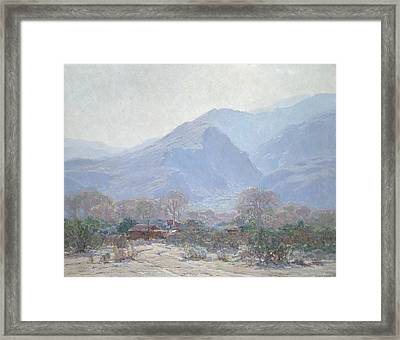 Palm Springs Landscape With Shack Framed Print by John Frost