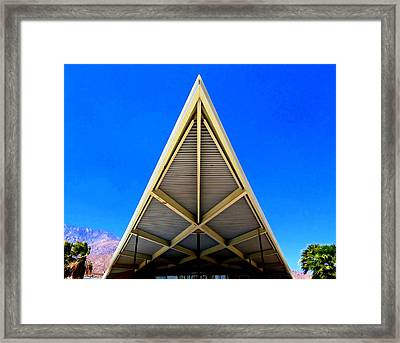 Palm Springs Tramway Visitor Center Framed Print by Randall Weidner