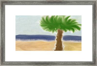 Palm Tree Framed Print by Gina Lee Manley