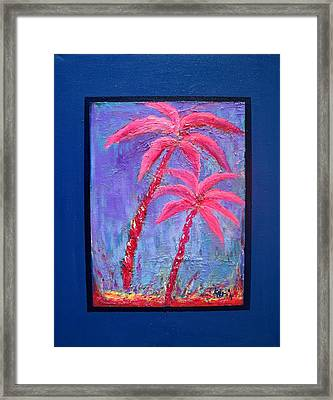 Palm Tree Series 14 Framed Print by Karin Eisermann
