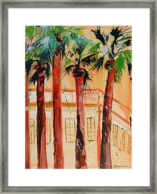 Palm Trees Framed Print by Suzanne Willis