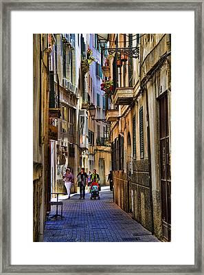 Palma Mallorca Street Scene Framed Print by David Smith