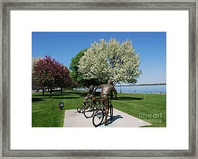 Palmer Park In Spring 2 Framed Print
