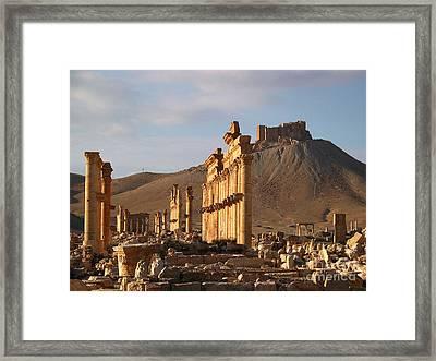 Palmyra Framed Print by Issam Hajjar