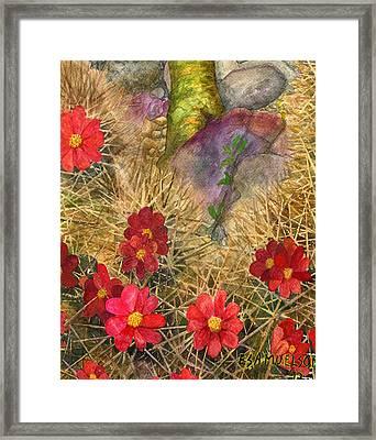 Palo Verde 'mong The Hedgehogs Framed Print