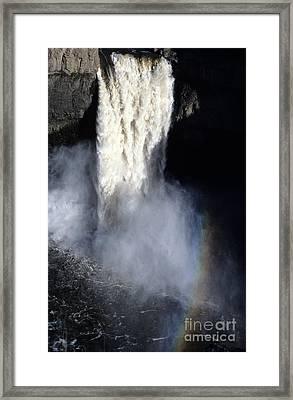 Palouse Falls Framed Print by Sharon Elliott