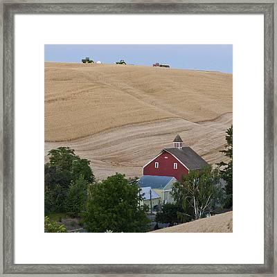 Palouse Wa Farm Framed Print