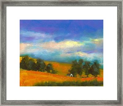 Palouse Wheat Fields Framed Print by David Patterson