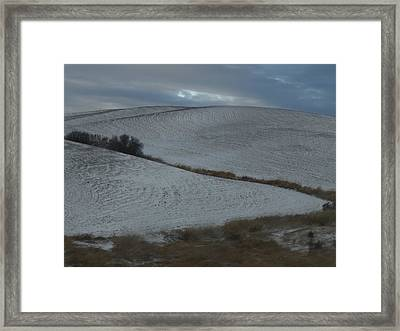Palouse Winter 1 Framed Print by Mary McInnis