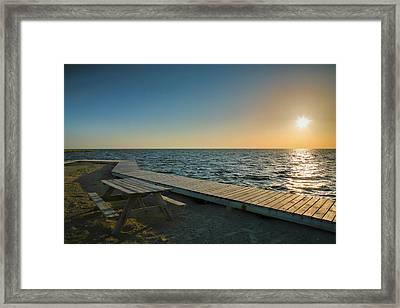 Pamlico Sound And Boardwalk I Framed Print by Steven Ainsworth