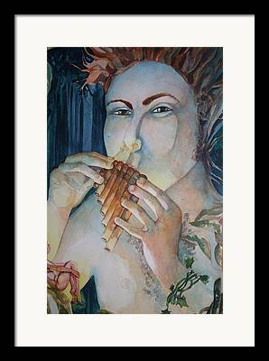 Pan Flute Fife Fairy Mid Summer Nights Dream Framed Prints