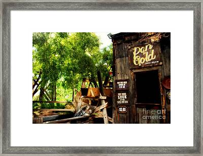 Pan For Gold In Old Tuscon Arizona Framed Print by Susanne Van Hulst