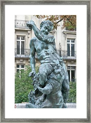 Pan God With A Tiger Framed Print
