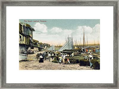 Panama City: Beach Market Framed Print by Granger
