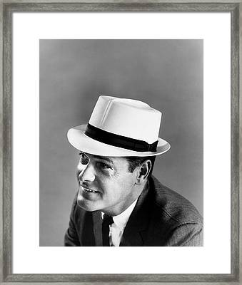 Panama Pose Framed Print by Archive Photos
