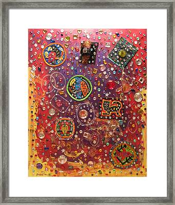 Panama Sparkle Framed Print by Sharon  De Vore