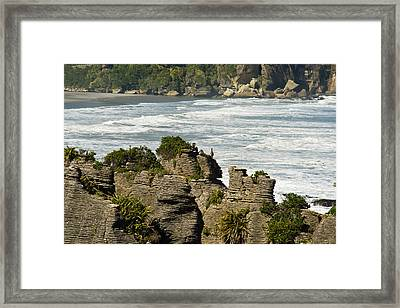 Pancake Rock Formations Framed Print by Graeme Knox