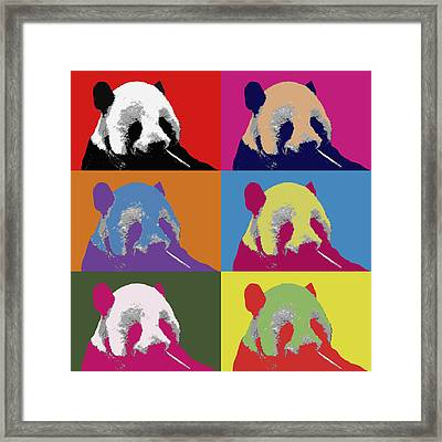Panda Pop Art 2 Framed Print