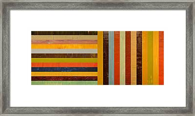Panel Abstract - Digital Compilation Framed Print by Michelle Calkins