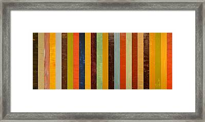 Panel Abstract Lll  Framed Print by Michelle Calkins