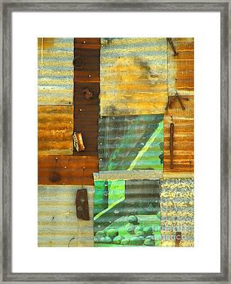 Panel With Peas Framed Print by Joe Jake Pratt