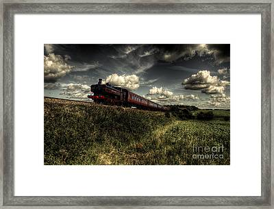Pannier Tank On The North Norfolk Framed Print by Rob Hawkins