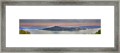 Panorama Lake Maggiore Framed Print by Joana Kruse
