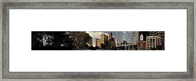Panorama Of Manhattan Downtown  Framed Print by Alex AG