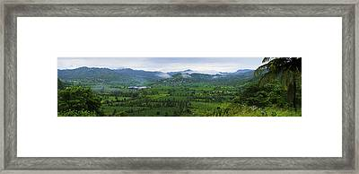 Framed Print featuring the photograph Panoramic 2- St Lucia by Chester Williams