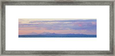 Framed Print featuring the photograph Panoramic 3- St Lucia by Chester Williams
