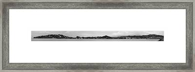 Framed Print featuring the photograph Panoramic 5- St Lucia by Chester Williams