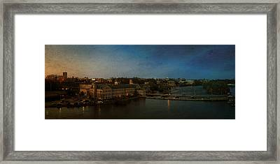 Panoramic Appleton Skyline Framed Print