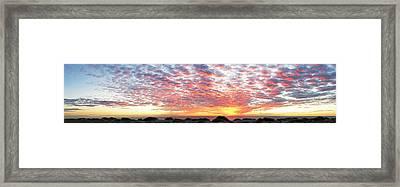 Panoramic Beach Sunset Framed Print by John Myers
