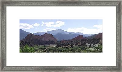 Panoramic Garden Of The Gods Framed Print