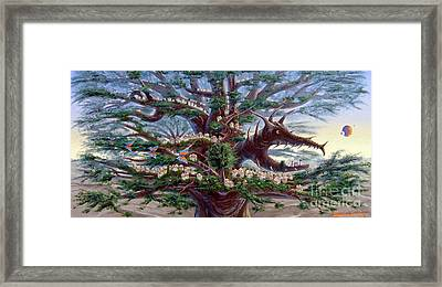 Panoramic Lorn Tree From Arboregal Framed Print
