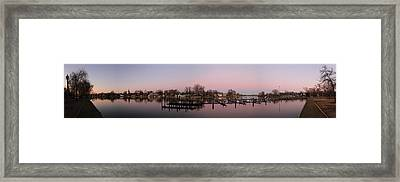 Panoramic Menasha Framed Print by Joel Witmeyer