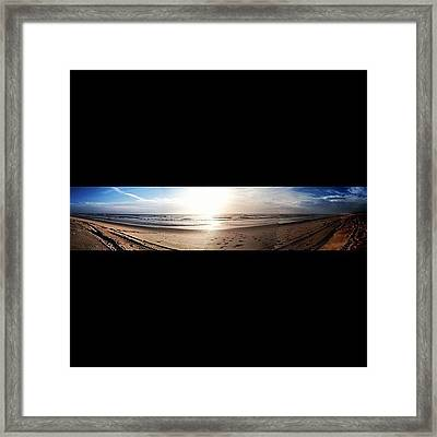 Panoramic Picture Of The Sunrise Framed Print