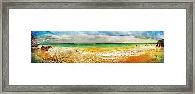 Panoramic Seaside At Tulum Framed Print by Tammy Wetzel