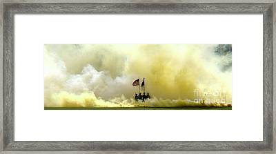 Framed Print featuring the photograph Panoramic Us Army Graduation by Michael Waters