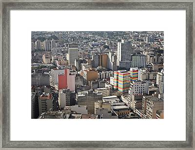 Panoramic View Of Sao Paulo Framed Print by Jacobo Zanella